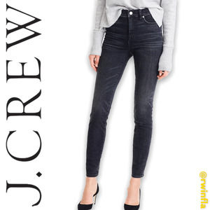 """J Crew Toothpick Jeans 9"""" High Rise Charcoal 24"""